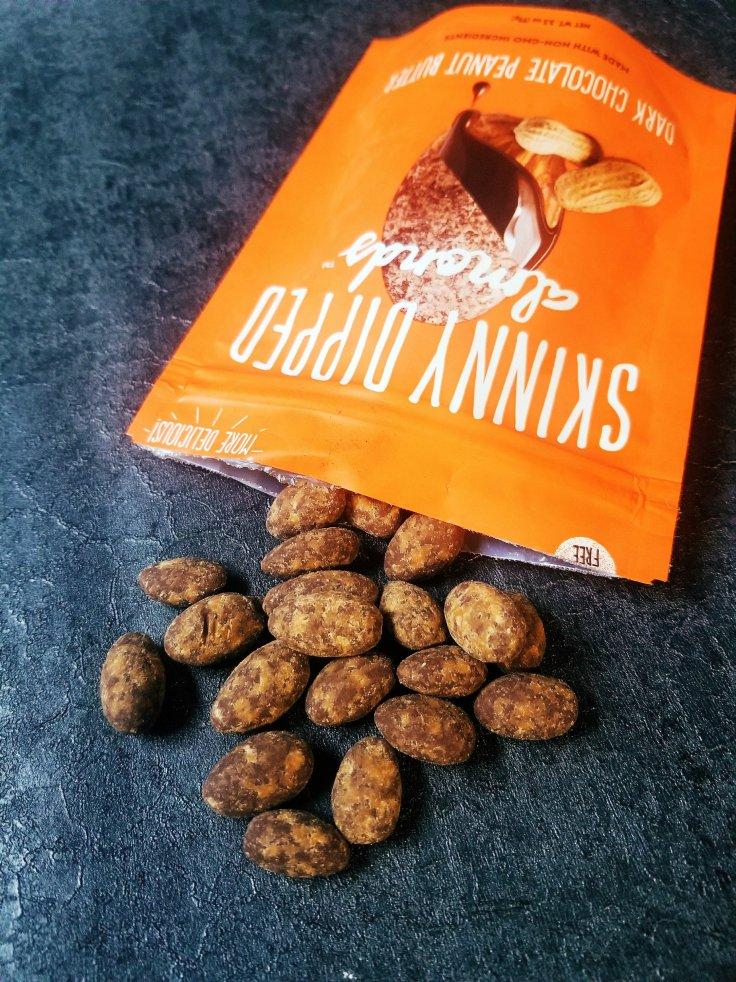 Dark Chocolate Peanut Butter Skinny Dipped Almonds