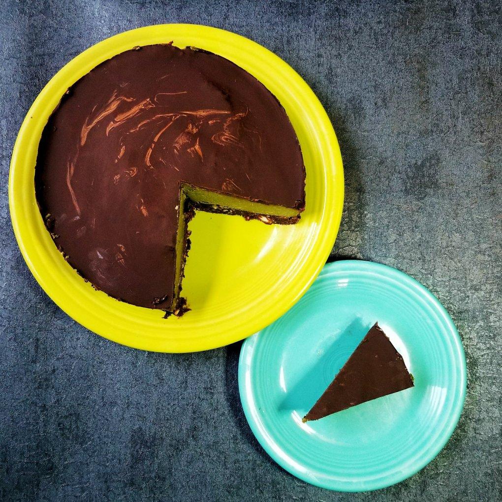 Matcha & Chocolate Vegan Cheesecake