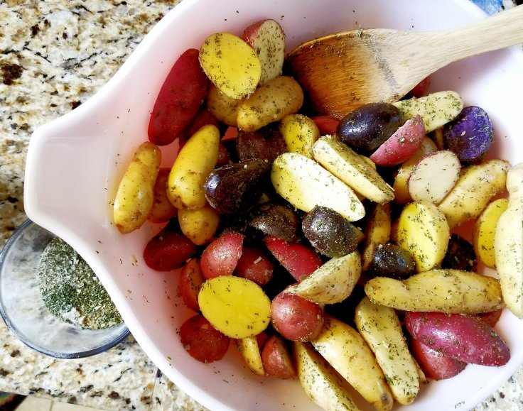 Use the remainder of your ranch seasoning to roast a big batch of potatoes