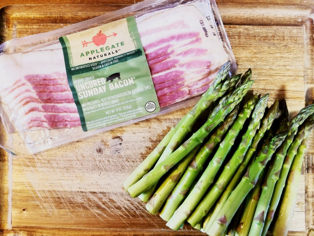 Applegate Uncured Sunday Bacon for roasted asparagus