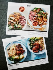 Marley Spoon recipe cards