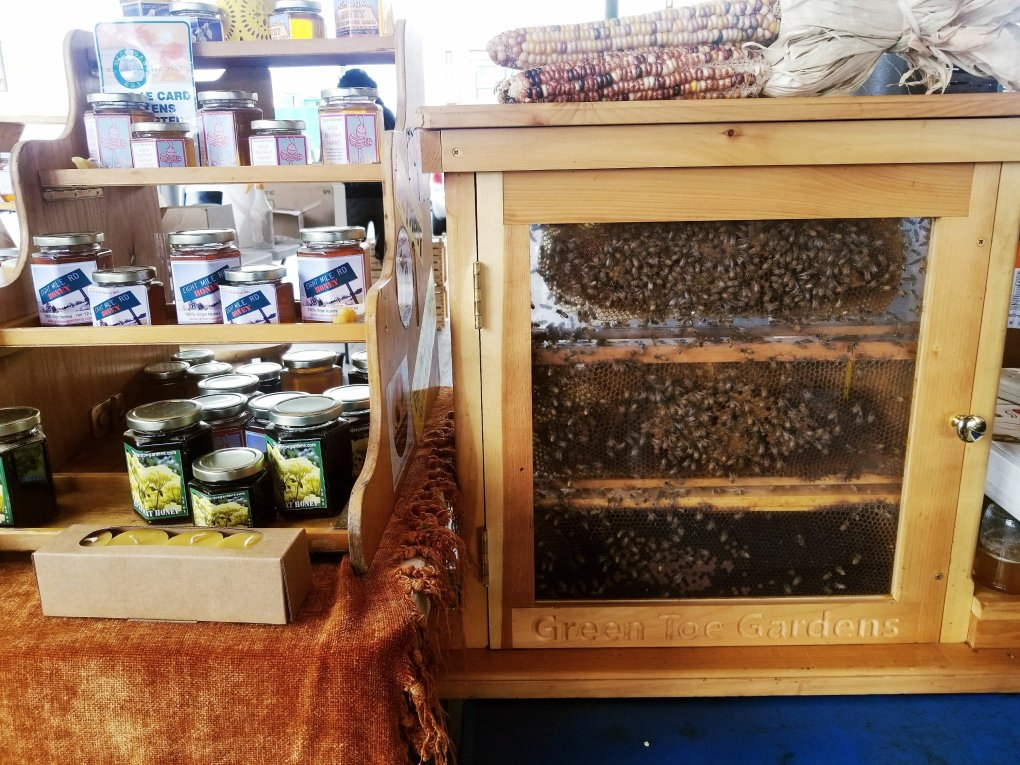 Fresh and local honey at Eastern Market in Detroit, MI