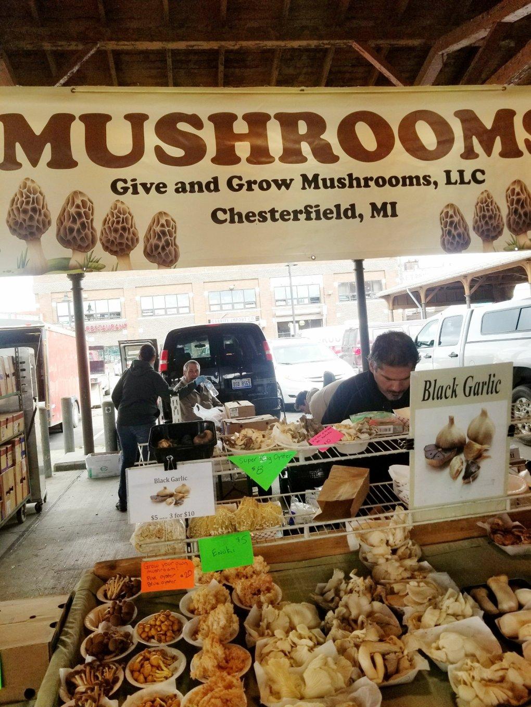 Mushrooms galore at Eastern Market!