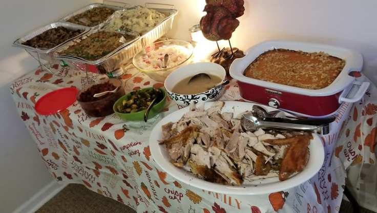 Thanksgiving Day spread