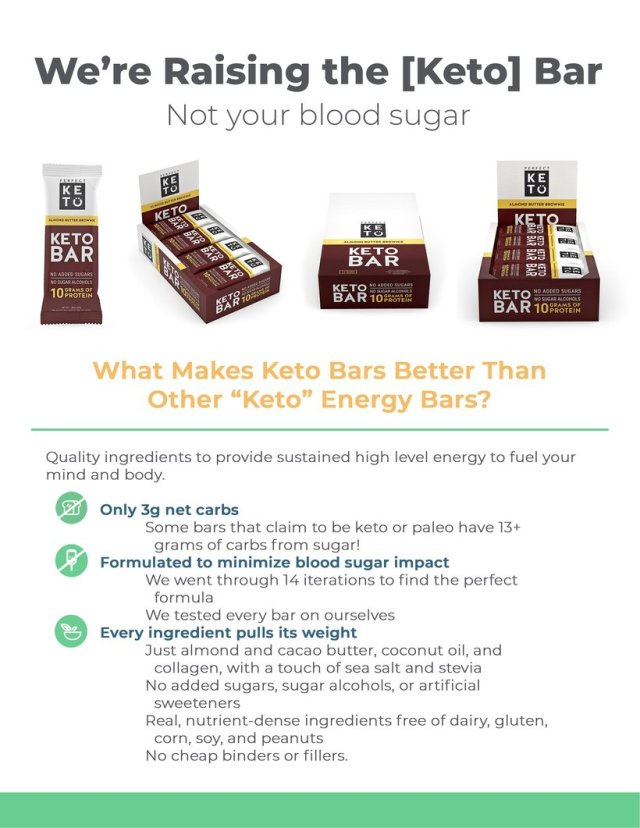 About Perfect Keto Snack Bars