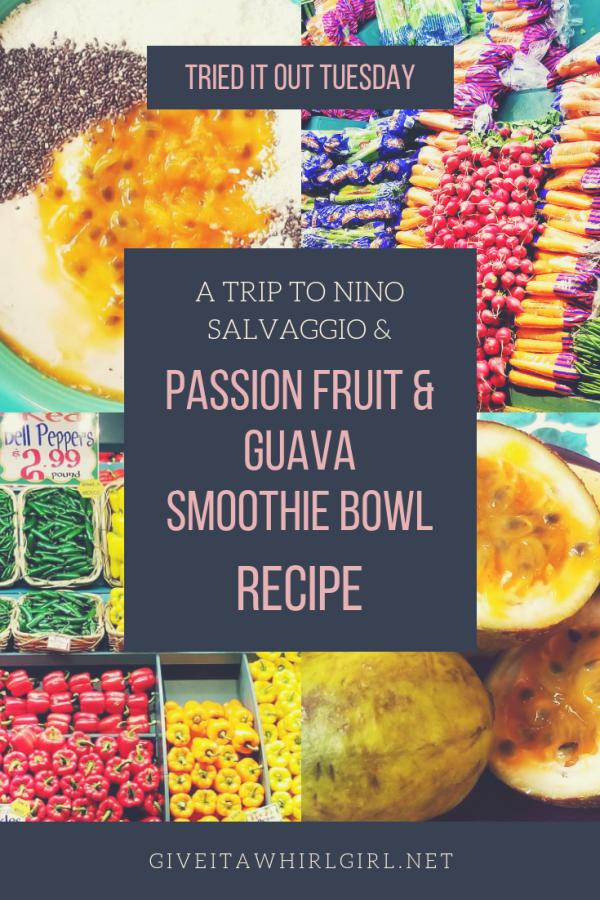Nino Salvaggio & A Passion Fruit Guava Smoothie Bowl RECIPE