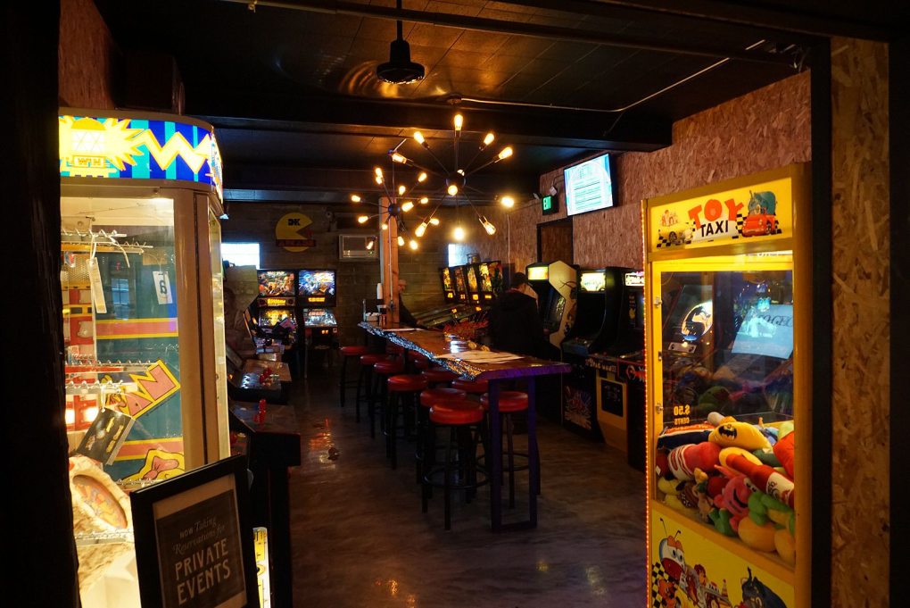Terry's Terrace also has an arcade with video games and pinball machines