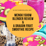 MengK 1500W High-Speed Professional Blender REVIEW & A Dragon Fruit Smoothie RECIPE