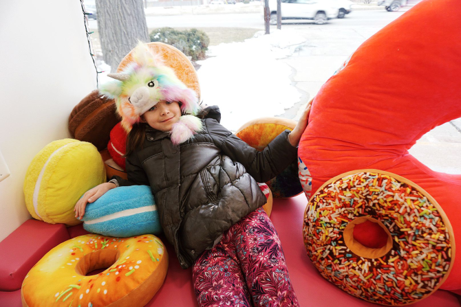My daughter got a kick out of all the donut pillows