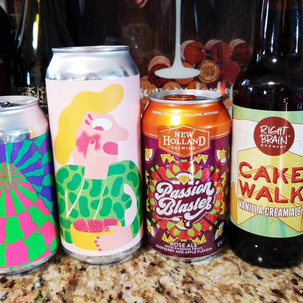 An assortment of craft beers that I tried out