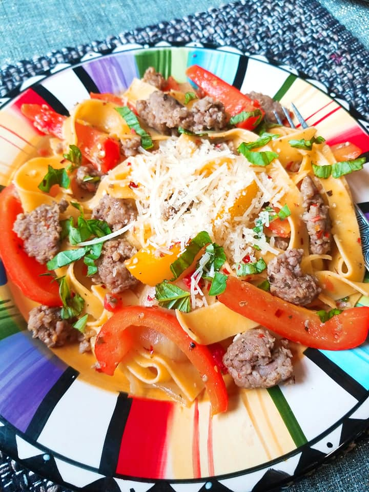 Italian Drunken Noodle - Give It A Whirl Girl's favorite meal to cook