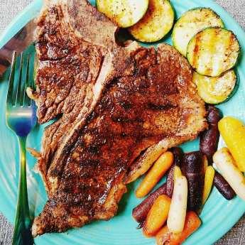 T-Bone Steak Dinner by Give It A Whirl Girl