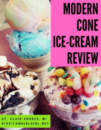 Modern Cone Ice-Cream Shop REVIEW - St Clair Shores MI - GIVE IT A WHIRL GIRL