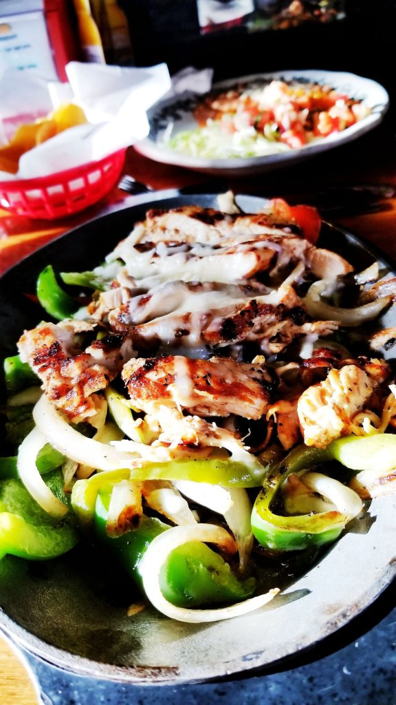 Look how good these chicken fajitas are! Crazy Gringo Mexican Cantina REVIEW