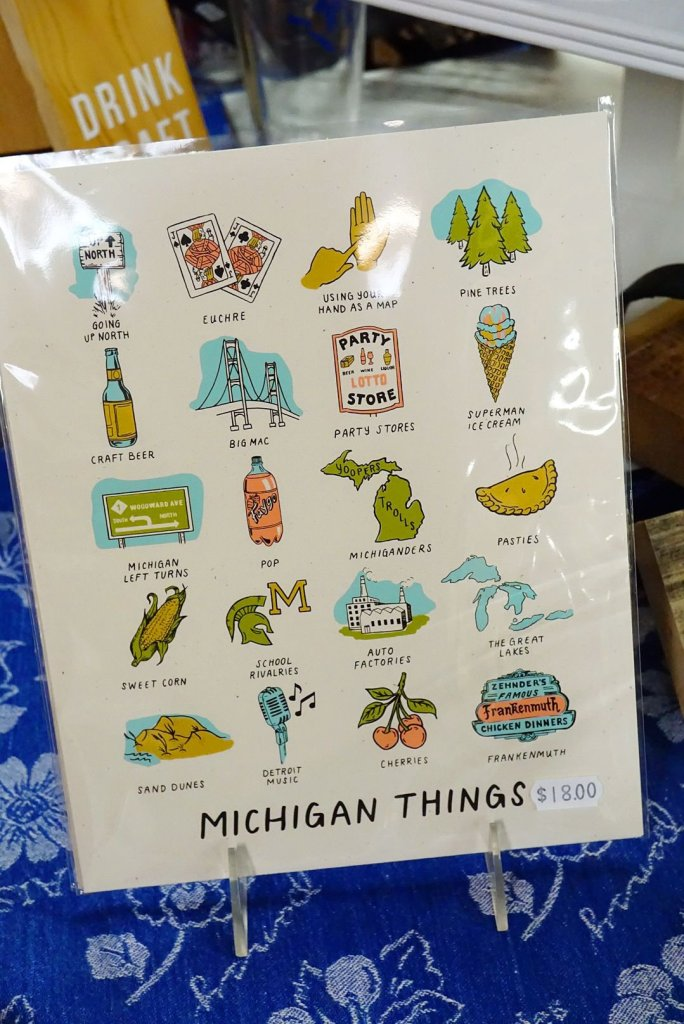 "I really love this ""All Things Michigan"" find at DeVries & Company 1887"