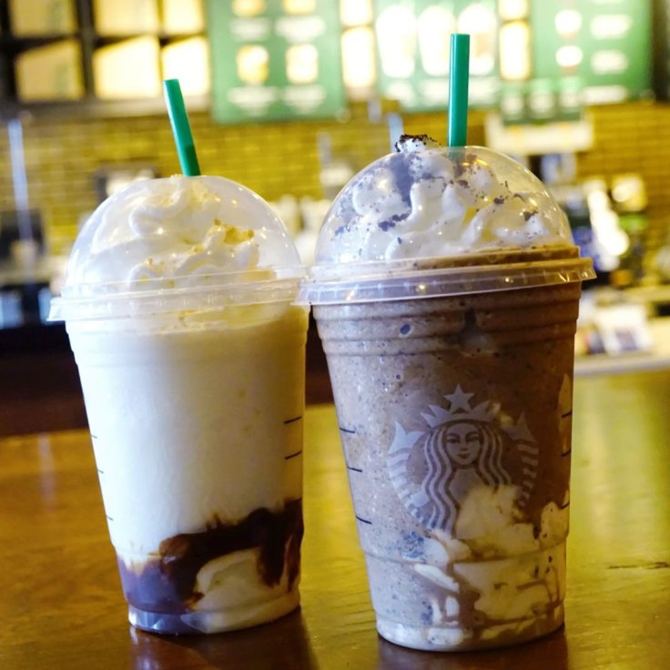 Two Frappucinos from Starbucks
