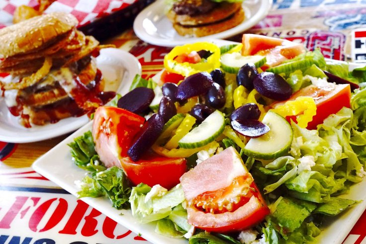 Greek Salad at Seeburger's Cheeseburgers