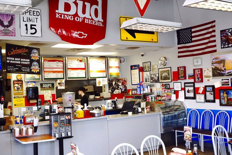 The interior of Seeburger's Cheeseburgers