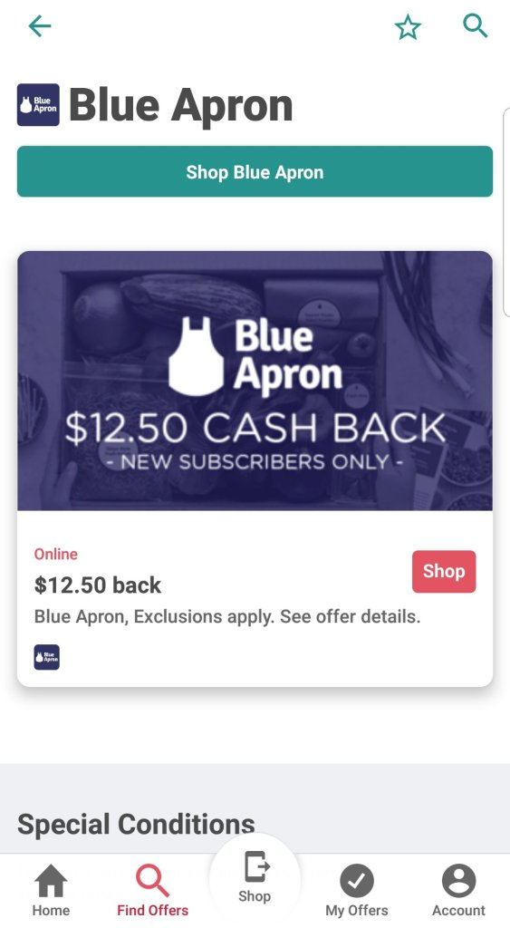 Here is an awesome deal and great incentive to sign up and try Blue Apron with the Ibotta mobile app! Earn $12.50 in your Ibotta account for giving this meal kit subscription box a whirl! Use my referral mohoyyu to get started!