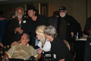 Chris Gantry, Tony Joe White, Billy Swan, Bob Beckham, Dolly Parton, Kris Kristofferson http://www.kriskristofferson.com/ Combine Writers Reunion, photo credit CJ Flanagan