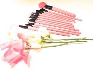 pink make-up brushes