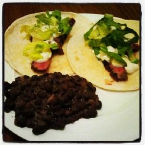 tequilla marinated steak tacos