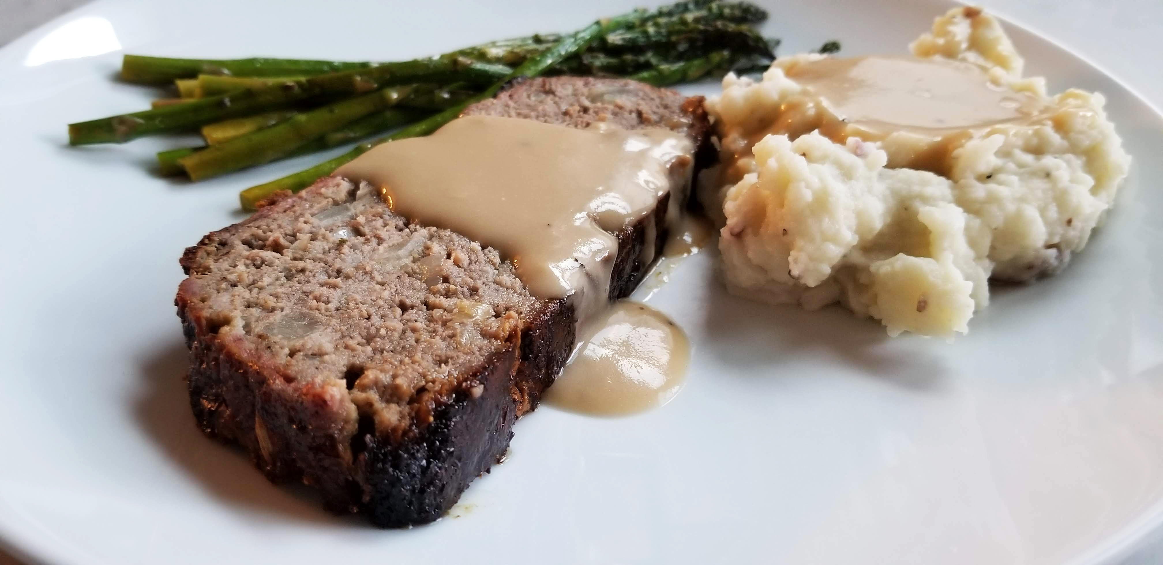 grilled swedish meatball inspired meatloaf