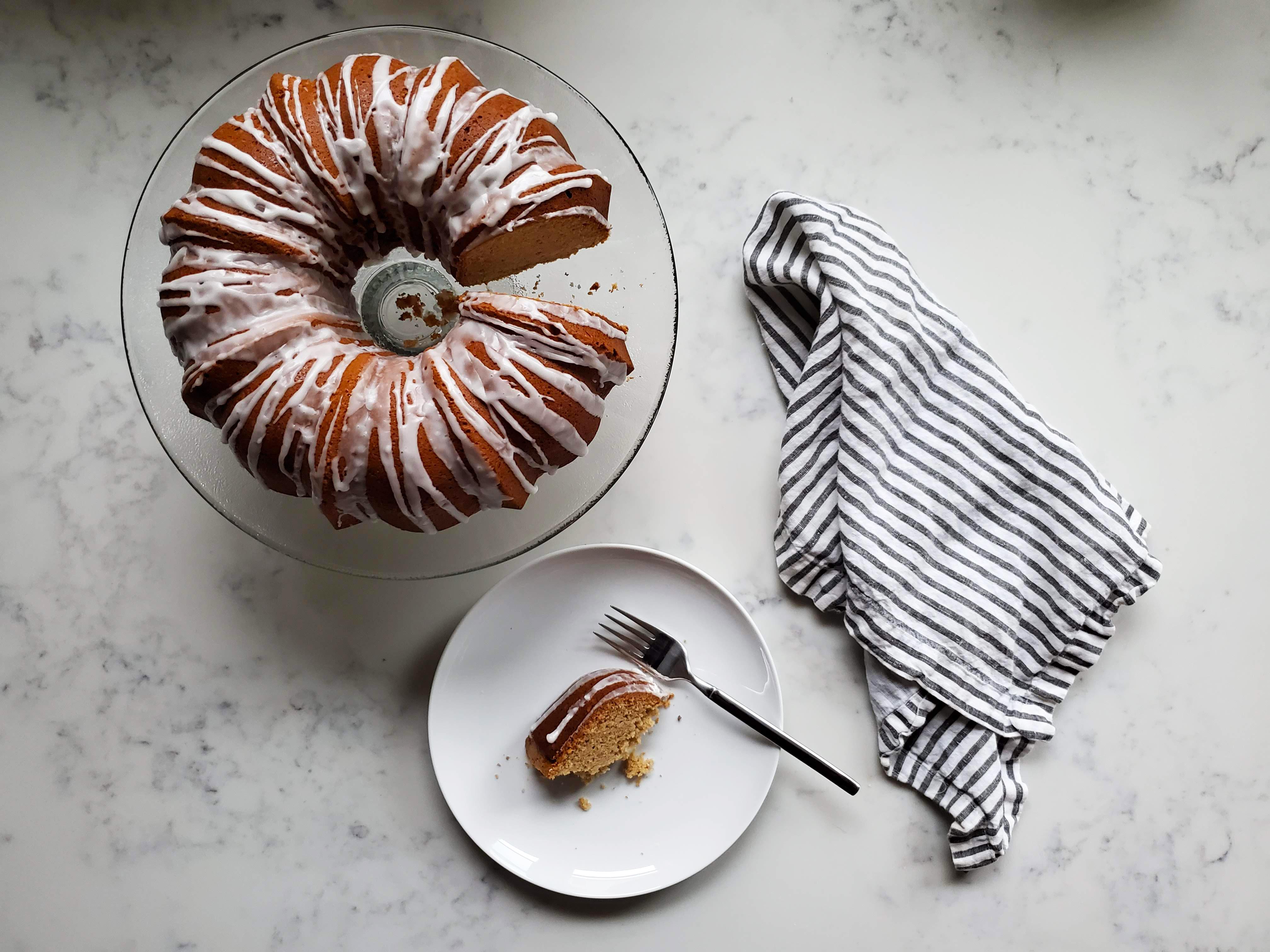 holiday eggnog bundt cake