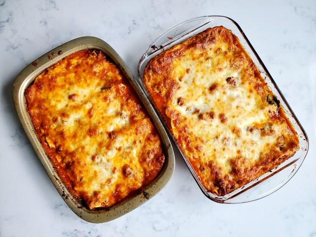 Two Cheesy Lasagnas