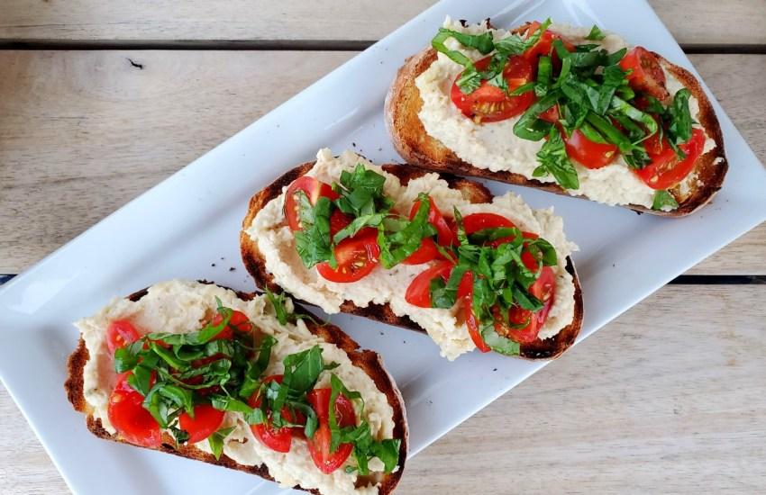 Pureed Rancho Gordo Beans + Roasted Garlic on Toast - A Vegetarian Recipe