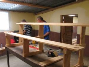 Desks near completion