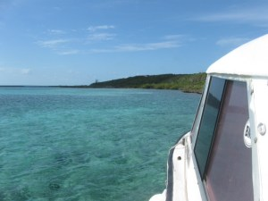 The boat ride out to Current Island.