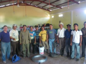 The crew. Pastor Santiago whom I am staying with is second from the left. White shirt and cowboy hat is the pastor of Mont Moria church where the work is being done.