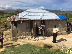This is one project outside of Cayes that I hope we can do. This needs more than a roof. It's a little more extensive. The old lady and child moves me.