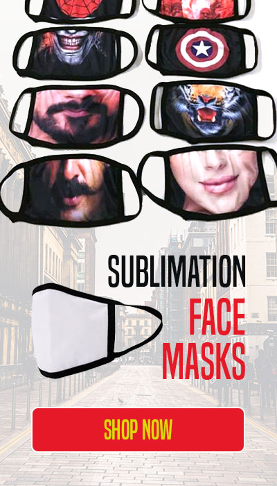 Sublimation face masks