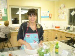 Cookery class Jacqui