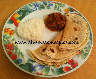 Black eyed Beans Curry (Chora nu shak)