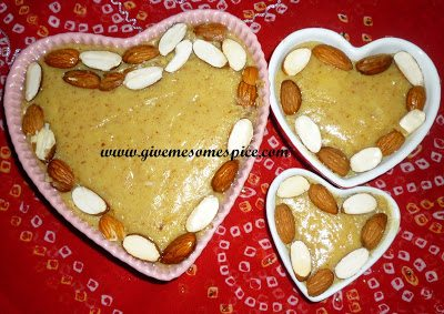 Almond Barfi - An Indian sweet with powdered milk and almonds