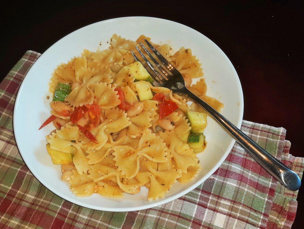 garlic bean scaled Summer Pasta (Vegetarian)