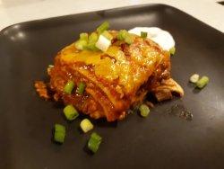enchilada lasagna - layers of Mexican flavor