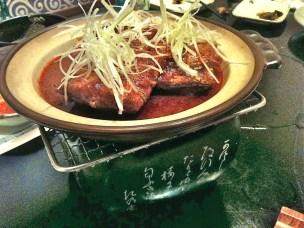 Spicy braised hairtail, aka galchi (갈치).