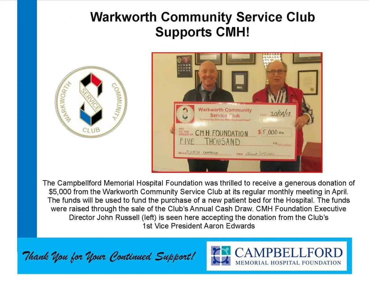 GALLERY OF THANKS  Campbellford Memorial Hospital Foundation