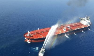 Oil Carrier Catches Fire