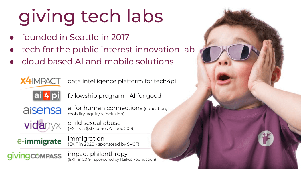 Giving Tech Labs - Incubations