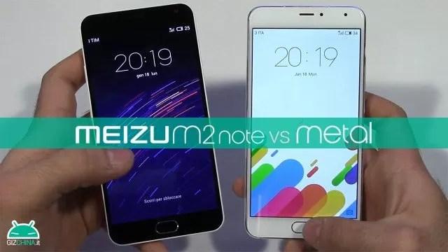 Meizu M2 Note vs Meizu Metal