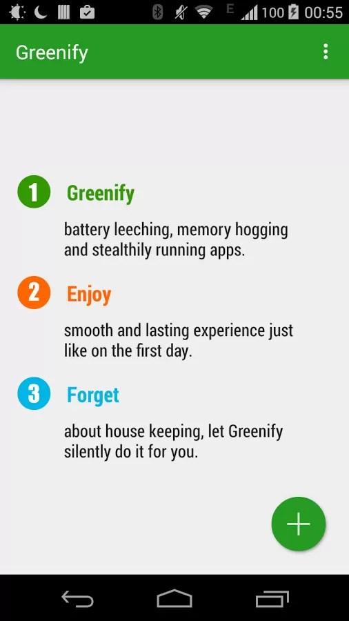 Greenify, applicazione per Android