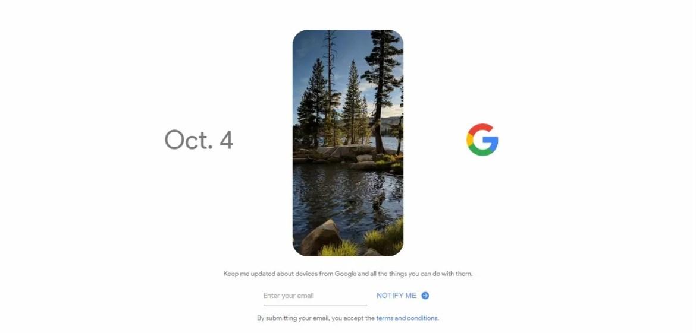 4 Ottobre Google Pixel