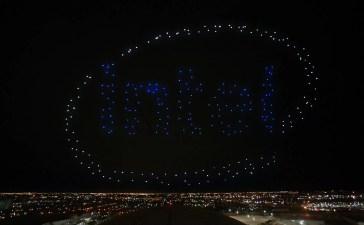 Intel Drone Shooting Star Super Bowl