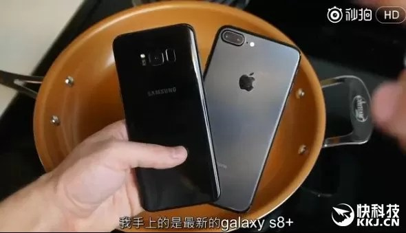 samsung galaxy s8+ iphone 7 plus video acqua