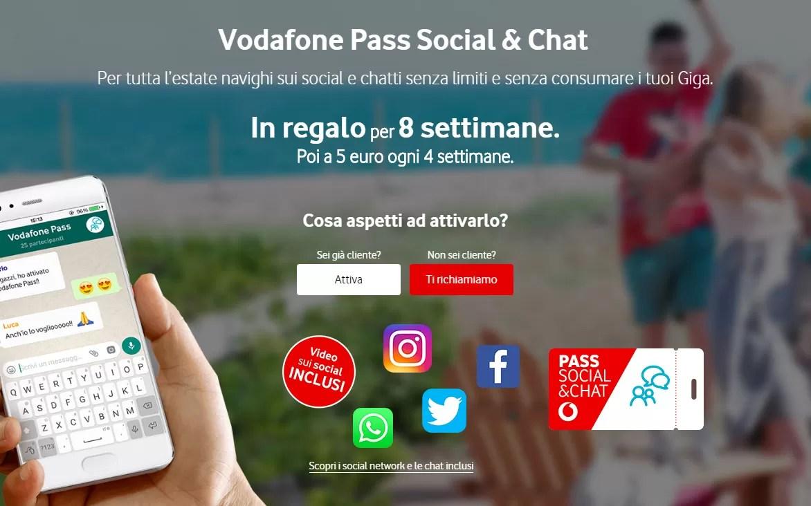 Happy Friday: Vodafone regala 8 settimane di Social Pass